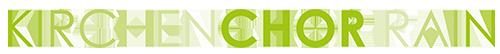 Kirchenchor Rain Logo